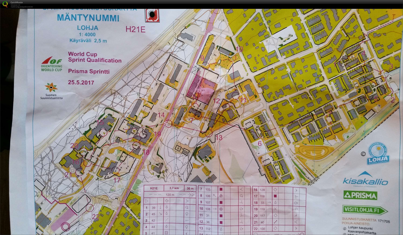 Prisma Rastit sprint Orienteering Map from Tobia Pezzati